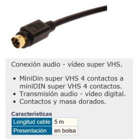 CABLE S-VHS M-M 5M