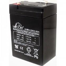 BATERIA 6V 4,5A LEOCH DJW6-4,5 99x70x47 mm,