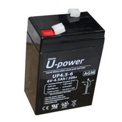 BATERIA U-POWER 6V 4,5A 70X47X107MM