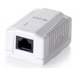ROSETA SUPERFICIE RJ45 CAT.5 UTP LATERAL