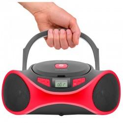 RAD/CD SPC 4501R CLAM BOOMBOX MP3 USB FM ROJO