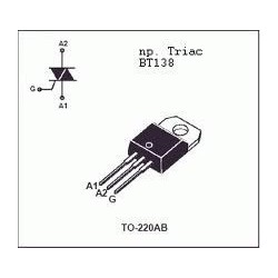 TRIAC BT-138 12 A 600 V