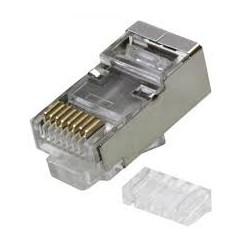 CONECTOR FTP CAT.6 BLINDADO RIGIDO C/GUIA