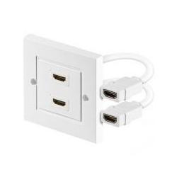 CAJA EMPOTRAR 2 CONECTORES HDMI H LATIGUILLO
