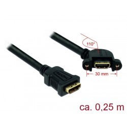 ADAPTADOR DOBLE HEMBRA HDMI 0,25M DELOCK 85101