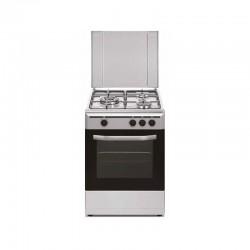 Cocina conv. Vitrokitchen CB5530IB, 3 fuegos, Inox