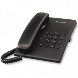 TELEFONO PANASONIC KX-TS500EXB SOBREMESA NEGRO