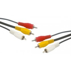 CABLE AUDIO-VIDEO 3 RCA M-M 1,5M