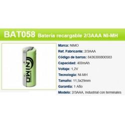 BATERIA 1,2V 180 M,AH AAA TERMINAL