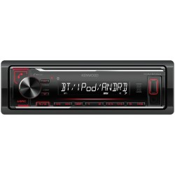 KMM-BT204 KENWOOD FONDO 10 CM BLUETOOTH ROJO