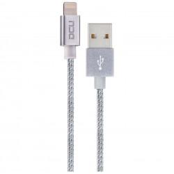 CABLE USB-MFI IPHONE 5/6/7 PLATA 1M.