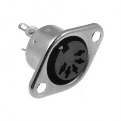 CONECTOR CHASIS HEMBRA DIN 5P 45º