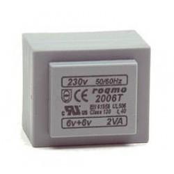 TRANSFORMADOR ROQMO 230V+12V 2.8VA ENCAP.
