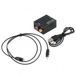 CONVERTIDOR DIGITAL TOSLINK A RCA ALIM USB