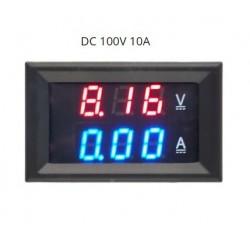 VOLTIMETRO AMPERIMETRO DIGITAL 0-100V 0-10A