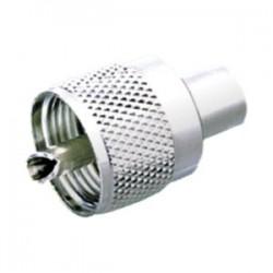 CONECTOR PL259 UHF MACHO ROSCA PARA CABLE RG58