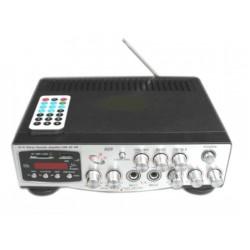AMPLIFICADOR USB-SD-FM-MIC 12V-230 CA MANDO