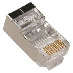 CONECTOR RJ45 MACHO CATEGORIA 6 APANTALLADO