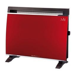 Convector 1500W JATA VT150 panel cristal rojo