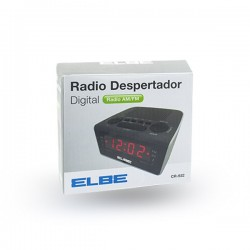 Radio despertador Elbe CR932 Negro, DIGITAL 0,6''