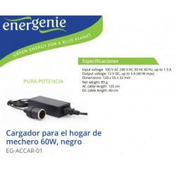 ALIMENTADOR SALIDA HEMBRA DE MECHERO 12V 60W 5A