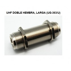 CONECTOR UHF DOBLE HEMBRA CHASIS