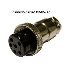 CONECTOR MICRO HEMBRA 6P AEREO