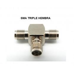ADAPTADOR SMA TRIPLE HEMBRA