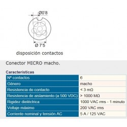 CONECTOR MICRO CHASIS MICRO 6P