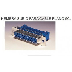 CONECTOR SUB-D H 9P C/PLAN