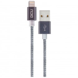 CABLE USB PARA IPHONE 5/6/7 1 M GRIS