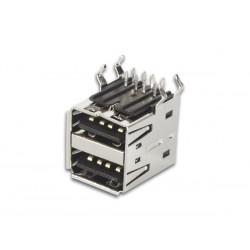 CONECTOR DOBLE USB A C.I.
