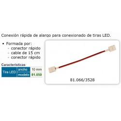 CONEXION RAPIDA PROLONGADOR TIRAS LED 5050