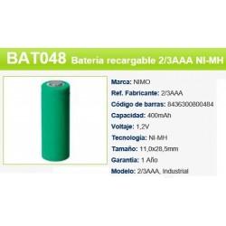 BATERIA 1,2V 280MAH 2/3AAA