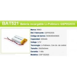 BATERIA 3,7V 320MAH +CTO CONTRO