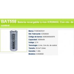 BATERIA BAT558 ICR26650 3,7V 5000 MAH LI-ION