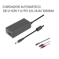 CARGADOR LITIO AUTOMATICO 3,6V 14V 1A