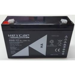 BATERIA 6V 12A HEYCAR HA6-12 151X50X100MM