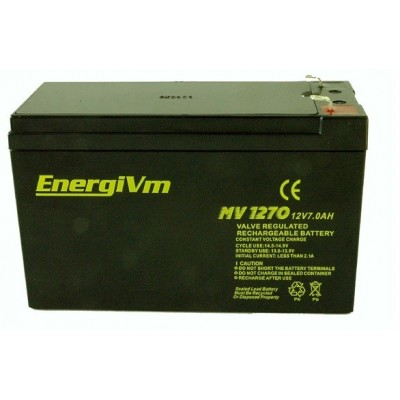 BATERIA 12V 7A ENERGI MV1270 151X65X101 mm