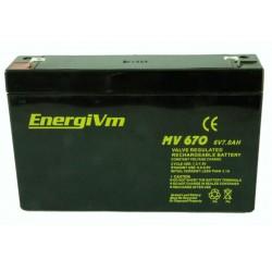 BATERIA 6V 7A ENERGIUM 151X34X100MM