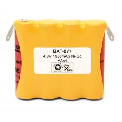BATERIA 4,8V 940MAH AAX4 CON TERMINAL
