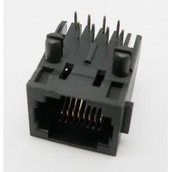BASE TELFONO PCB C.I. 8P 8C ACODADA