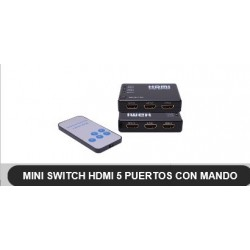 SWITCH HDMI 5 ENTRADAS 1 SALIDA CON MANDO