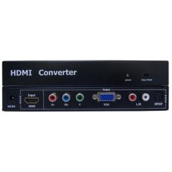 ADAPTADOR HDMI A VGA + RGB + AUDIO DIGITAL/ANALOG