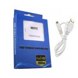 CONVERTIDOR VGA A HDMI CON AUDIO ALIMENTADO USB