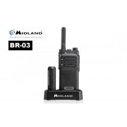 Walkie Midland BR03 PMR446 BATERIA LITIO