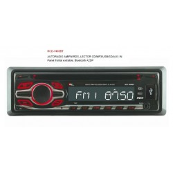 AUTO RADIO RCD-7400BT 4X50W USB SD