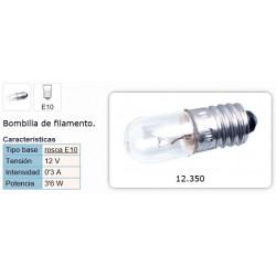 LAMPARA ROSCA 12V 0,3A E-10