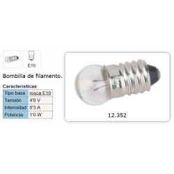 LAMPARITA FILAMENTO E10 4,8V 0,3A