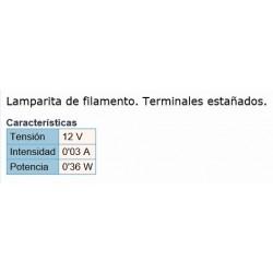 LAMPARITA 3X6MM 12V 0.03A